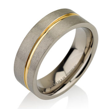 Rare 6mm Titanium Wedding Band Men Titanium Rings Mens Wedding Band Titanium Wedding Titanium Engagement Ring, Wedding Bands, Titanium Women