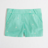 """Factory 5"""" embroidered broken-in chino short"""