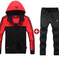 Adidas couple sports suit clover