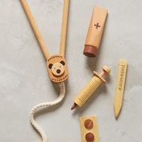Wooden Doctor's Kit by Anthropologie Sand One Size Gifts