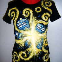 XL or LARGER Doctor Who Exploding TARDIS T-Shirt