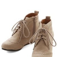 ModCloth Quill of the Night Bootie in Stone