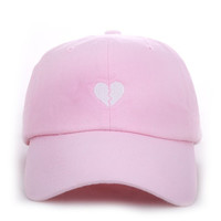 Broken Heart Strapback in Pink