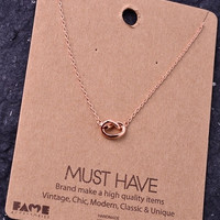 Dainty Knot Charm Necklace - Gold, Rose Gold or Silver