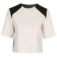 Structured Colour-Block Top - Tops - Clothing