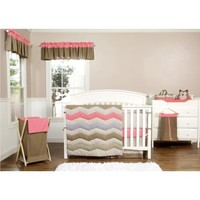 Trend Lab® Cocoa Coral 3-Piece Crib Bedding Set