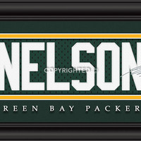 """Green Bay Packers Jordy Nelson Print - Signature 8""""x24"""""""