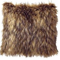 Coyote Fur Accent Pillow