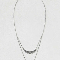 AEO Tiered Bar Necklace , Silver