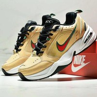NIKE Air M2K TEKNO Fashion New Embroidery Hook Women Men Running Sports Shoes Yellow
