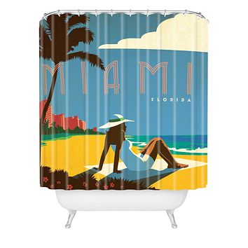 Anderson Design Group Miami Shower Curtain