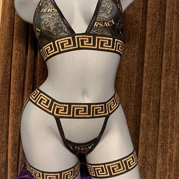 VERSACE Fashion Women Two Piece Bikini