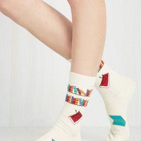 Scholastic I've Tread Them All Socks by ModCloth