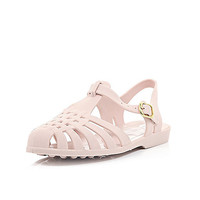 River Island Womens Light pink jelly shoes