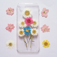 pressed flower iPhone 6 Case pressed flower clear case for apple iphone 4 4s 5 5s 5c 6 6 plus 6s 6s plus pressed flower iphone case daisy