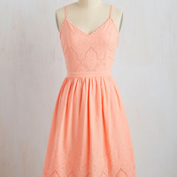 Courteous Curtsy Dress in Peach | Mod Retro Vintage Dresses | ModCloth.com