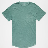 Lost Mister Mens Pocket Tee Green  In Sizes