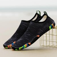 Outdoor Men Women Beach Aqua Shoes Swimming Water Adult Unisex Flat Soft Seaside Walking Upstream Sneakers Summer Marine Fishing