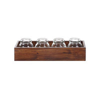 Wooden Box with Jars