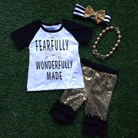 Preorder-Fearfully and wonderfully made sequin Capri set