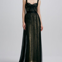 Bustier Overlay Gown