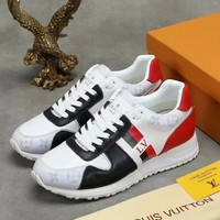 LV 2018 winter new color matching printing casual sports men's shoes
