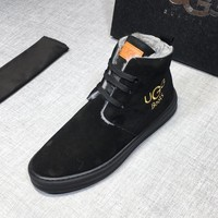 UGG autumn and winter new men's warm boots shoes casual shoes