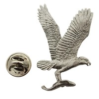 Osprey Pin ~ Antiqued Pewter ~ Lapel Pin