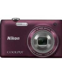 Nikon COOLPIX S4100 14 MP Digital Camera with 5x NIKKOR Wide-Angle Optical Zoom Lens and 3-Inch Touch-Panel LCD (Plum)