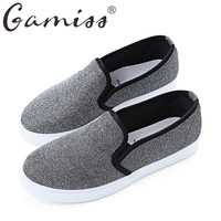 Gamiss Spring Autumn Ladies Casual Leisure Flat Sequined Canvas Sapatos Casual Slip-on Oxford Loafer Handmade Women Flat Shoes