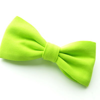 Bright Green NEON Bow Tie, Tangled Ties Unique Bow Tie For Men, Boys, Girls, Women