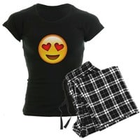 EMOJI HEART Womens Dark Pajamas  | EMOJI GIFT GUIDE