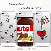 Tumblr Nutella Case For iPhone 5 5S SE Soft Silicone Clear with design Phone Back Cover Fundas Coque