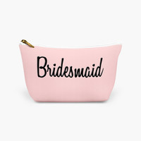 Bridesmaid Make Up Bag - Wedding Day Make Up Bag - Wedding Party Cosmetic Case - Bridesmaid Cosmetic Bag - Wedding Party Gift - Make Up Case