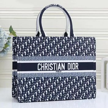Dior full letters women's large-capacity shopping bag handbag shoulder bag