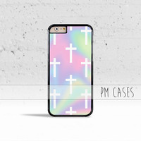 Pastel Crosses Case Cover for Apple iPhone 4 4s 5 5s 5c 6 6s SE Plus & iPod Touch