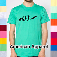 Evolution Ultimate Frisbee Charles Darwin Funny Sport Sports Sporty Hobby Outdoors Frisbees Team T Shirt American Apparel 2001 R2 207651709