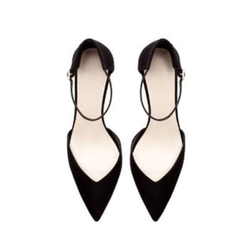 BASIC HIGH HEEL ANKLE STRAP SHOE WITH HEEL BACK - Shoes - WOMAN   ZARA United States