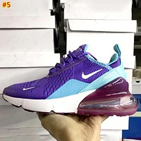 Nike Air Max 270 Tide brand lightweight mesh breathable running shoes #5