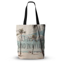 """Nastasia Cook """"Salt in the Air"""" Beach Trees Everything Tote Bag"""