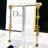 Dior Stylish Ladies Delicate Tassel Pendant Earrings Jewelry Accessories