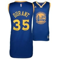 Autographed Golden State Warriors Kevin Durant Blue Replica Jersey with Dub Nation Inscription - Limited Edition of 135 - Panini