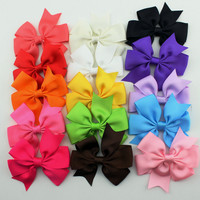 15pcs set grosgrain hair ribbon bow baby hairbow girl boutique bow with clips barrette children hair accessories