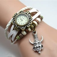 Dean Winchester's Amulet Wrist Watch,supernatural Hyperphysical Inspired Protection Charms Bracelet Watch