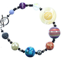 The Nine Planets Bracelet, a Bracelet of the Solar System, 8 Inches