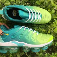 HCXX 19July 510 Nike Air Vapormax Plus WMNS CI9900-300 LEMON LIME Sports Casual Running Gradient Green