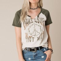 White Crow Make Love Not War Tee