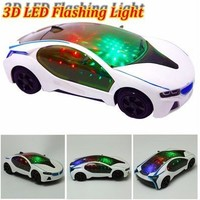 3D LED Flashing Light Car Toys Music Sound Electric Toy Cars Kids Children Gift 20cm*9cm*5cm [9305767047]