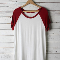 Sabrine Short Sleeve Baseball Tee