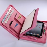 iPad mini Pink Case with Half-Letter Notepad mini Business Portfolio